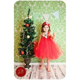 B2W2 White Flo Red Tutu Dress with Headband