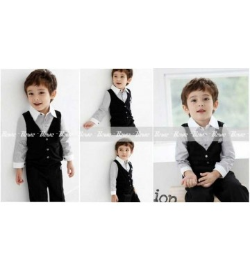 B2W2 Korean Black Vest 3in1