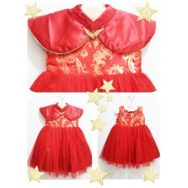Dress Mardi Amber Goldie Red 2in1