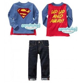 Senshukei Superman Jeans with Wing