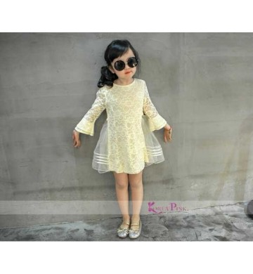 KoreaPink Creamy Rose Dress