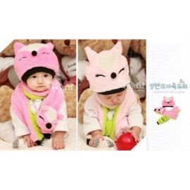 Double Sided Fox Frog Hat & Syal