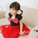 CandyBaby Red Polka Ribbon Dress