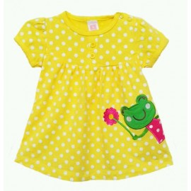 Dress Carter's Yellow Happy Frog