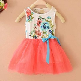 Summer Floral Dress Orange