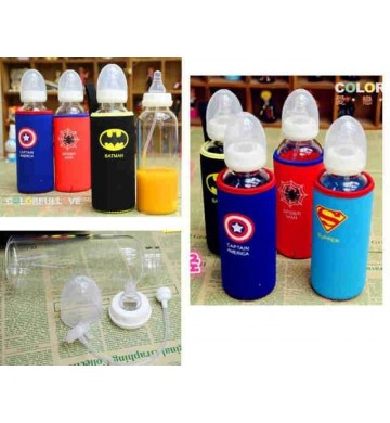 Juice Bottle Superhero Plus Cover 500ml