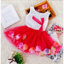 Dress Rose Petal Red
