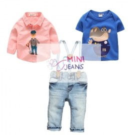 Minijeans Working Hippo Set Suspender 3in1