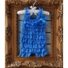 Romper Royal Lace Posh Petti Ruffle Soft Blue