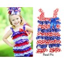 Romper Royal Lace Posh Petti Ruffle USA