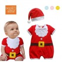 Romper Red Santa set Hat 2in1