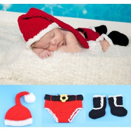 Costume Santa Baby Crochet with Shoes