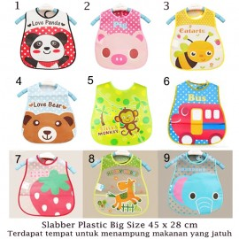 Slabber Plastic Big Bib Waterproof A