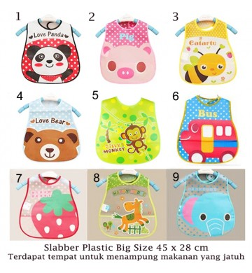 Slaber Plastik Big Bib Waterproof