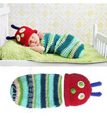 Baby Newborn Crochet Caterpillar