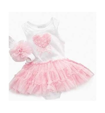 Dress Tutu First Impressions White Love+Headband
