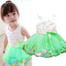 Dress Rose Petal Green