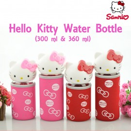 Botol Minum Hello Kitty Kaca + Cover