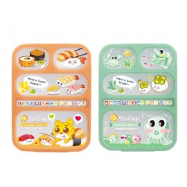 Lunch Box Yooyee Grid Leak Proof 5 Sekat 590