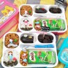 Lunch Box Yooyee Grid Leak Proof 6 Sekat