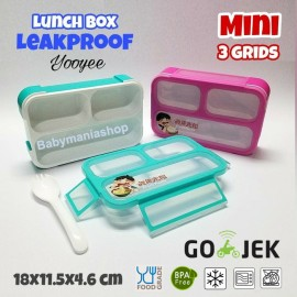 Lunch Box Yooyee Grid Leak Proof 3 Sekat 606