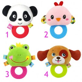 Hand Bell Teether Plush Toy Animal