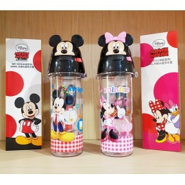 3D Drinking Bottle Mickey Minnie Original 4254/4255 500ml Tanpa Sedotan