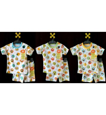 Stelan Kancing Pundak+Celana Pendek Jungle Velvet Junior 3in1 (SML)