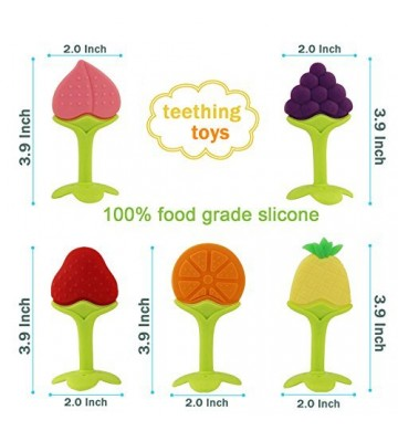 Fruit Teether Silicone Stick