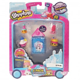 Shopkins Season 8 - World Vacation America - Pack of 5