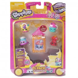 Shopkins Season 8 - World Vacation Asia - Pack of 5