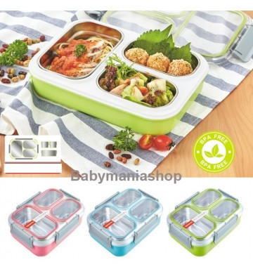 Lunch Box Tedemei Stainless Steel Grid 6540