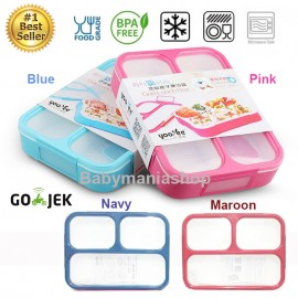 Lunch Box Yooyee Grid Leak Proof 3 Sekat 579