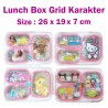 Lunch Box Tedemei Stainless Steel Grid Karakter