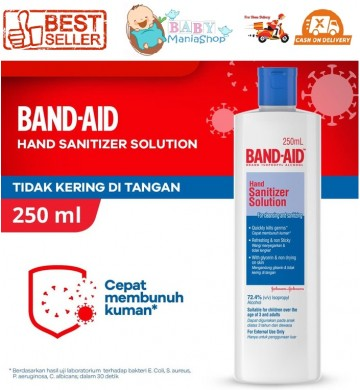 Band Aid Hand Sanitizer Solution 250ml Disinfectant