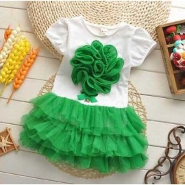 Dress Flower Tutu Green