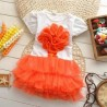 Dress Flower Tutu Orange