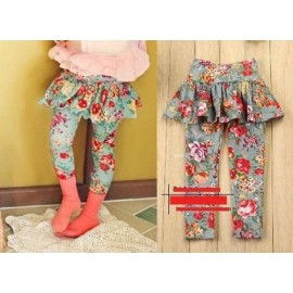 Skirt Legging Shabby Chic Green