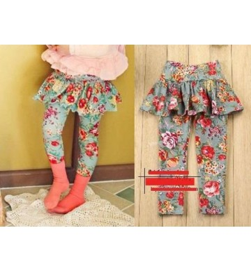 Skirt Legging Flower Green