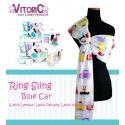Ring Sling Vitorio Blue Car